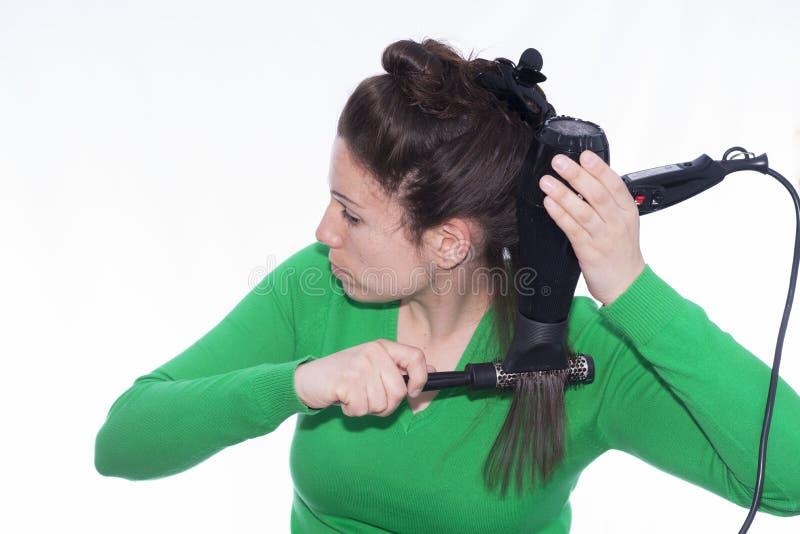 Hair dryer. stock photography