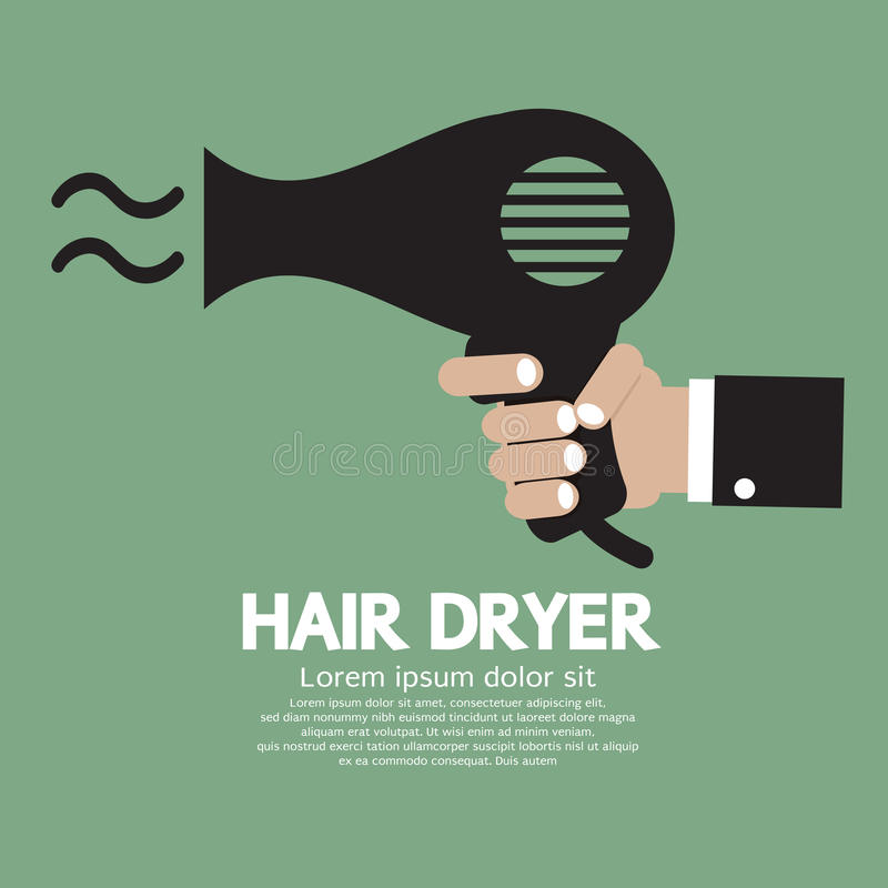 Hair Dryer. In Hand Vector Illustration vector illustration