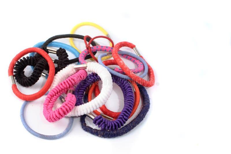 Hair elastics stock photography