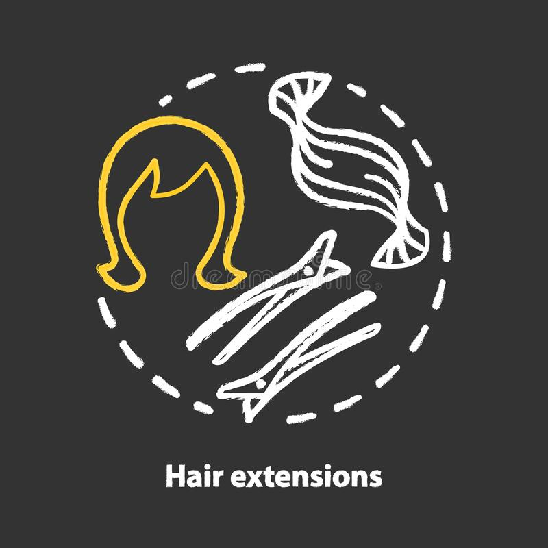 Woman Logo With Beauty Gradient Concept And Business: Hair Extensions Blue Concept Icon. Clip In Hair Tapes, Wig