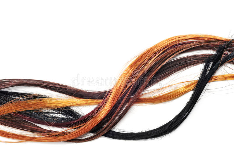 Hair extensions royalty free stock image