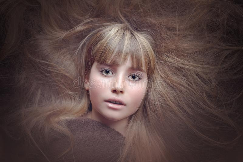 Hair, Face, Beauty, Human Hair Color royalty free stock photography