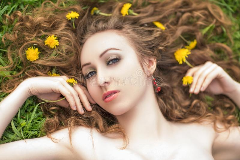 Hair, Face, Beauty, Yellow stock image