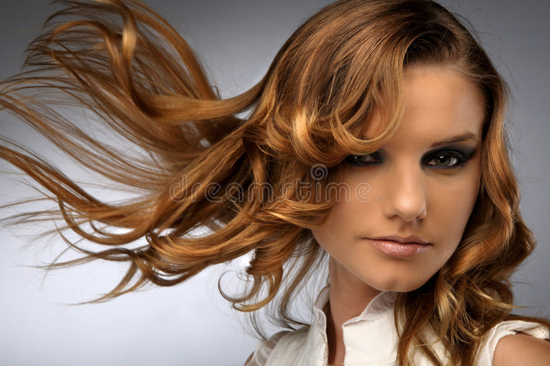Download Hair Fluttering In The Wind Stock Photo - Image: 5391266