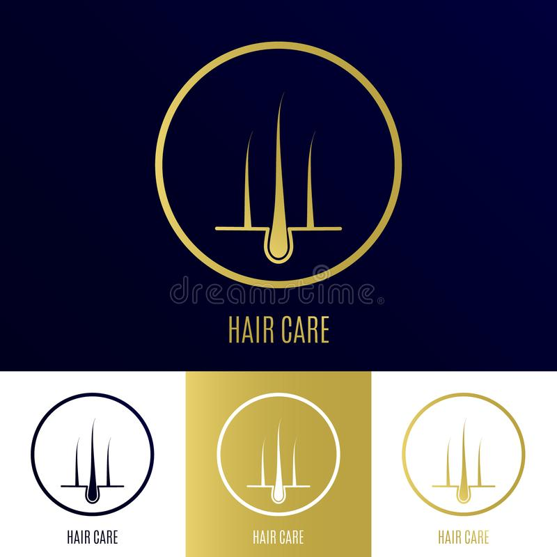 Gold Hair Bulb With A Quote Stock Vector
