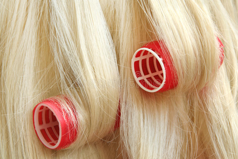 Download Hair in hair rollers stock photo. Image of hairroller - 10523842