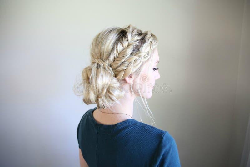 Hair, Hairstyle, Hair Accessory, Bun royalty free stock photos