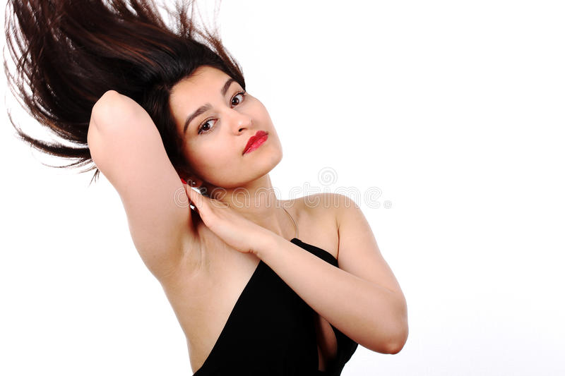Hair in motion stock photo