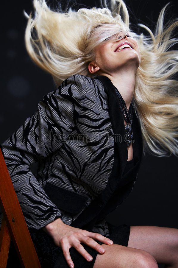 Hair On The Move Royalty Free Stock Images