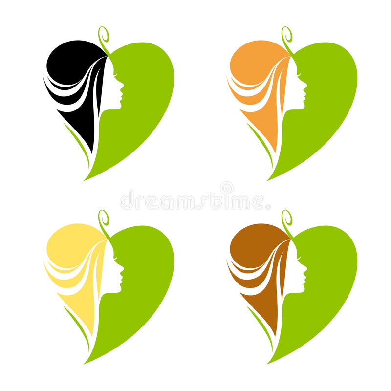 Hair and natural cosmetics. For womenn royalty free illustration