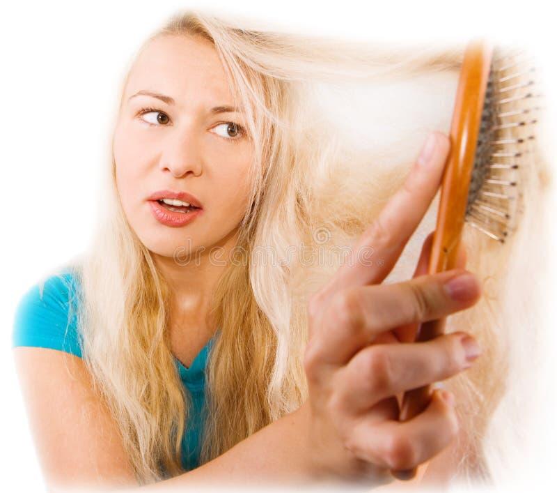 Download Hair problem stock image. Image of brushing, girl, help - 7527203