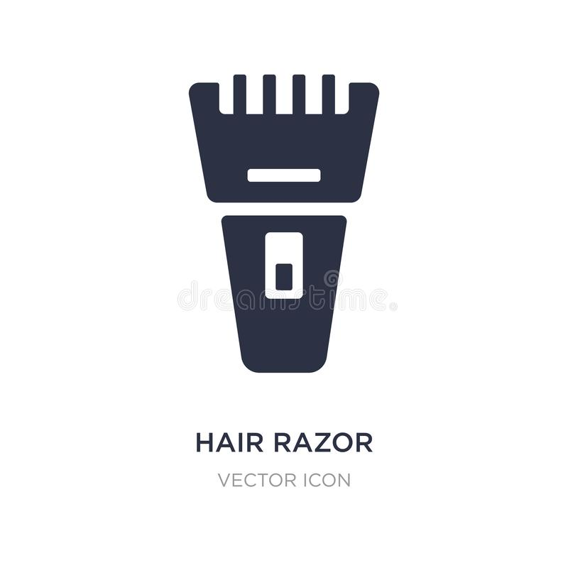 Hair razor icon on white background. Simple element illustration from Beauty concept. Hair razor sign icon symbol design stock illustration