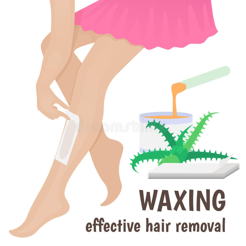 Hair removal royalty free illustration