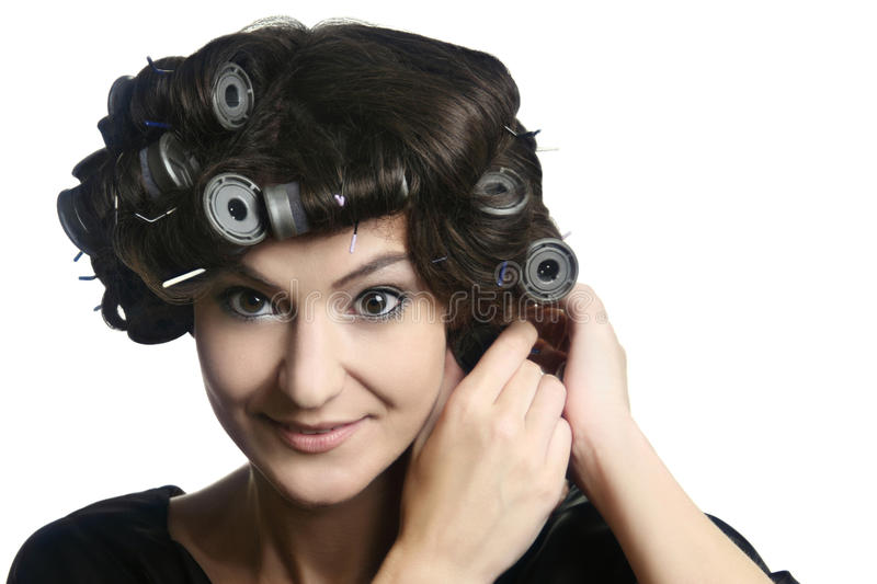 Download Hair-rollers Woman  Hairstyle Hair-curlers Royalty Free Stock Images - Image: 18021719