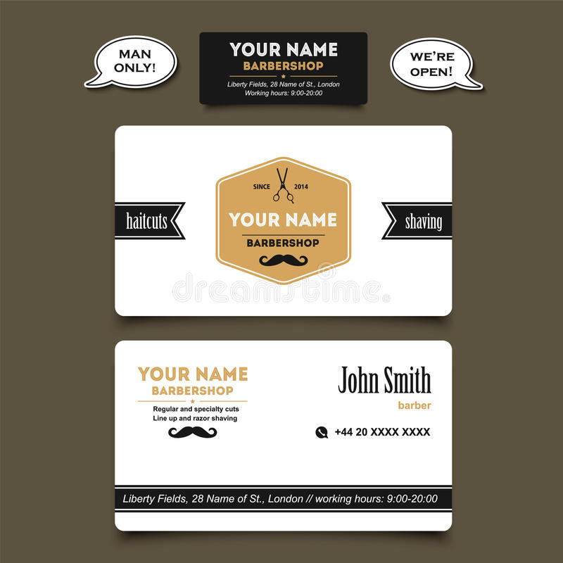 Hair salon barber shop business card design template stock vector download hair salon barber shop business card design template stock vector illustration of graphics flashek Choice Image