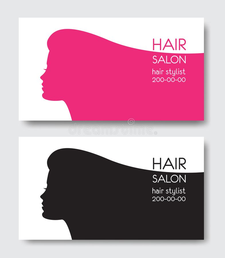 Hair salon business card templates with beautiful woman face sil download hair salon business card templates with beautiful woman face sil stock vector illustration of flashek Choice Image