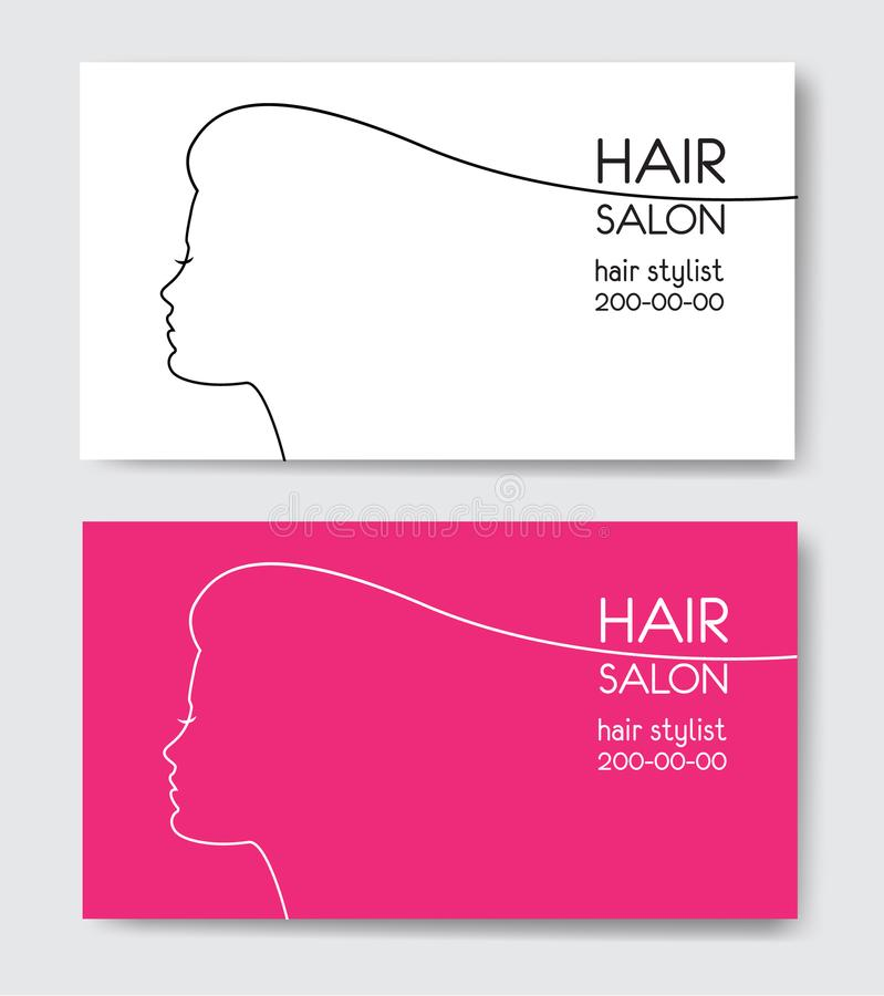 Hair salon business card templates with beautiful woman face sil download hair salon business card templates with beautiful woman face sil stock vector illustration of cheaphphosting Choice Image