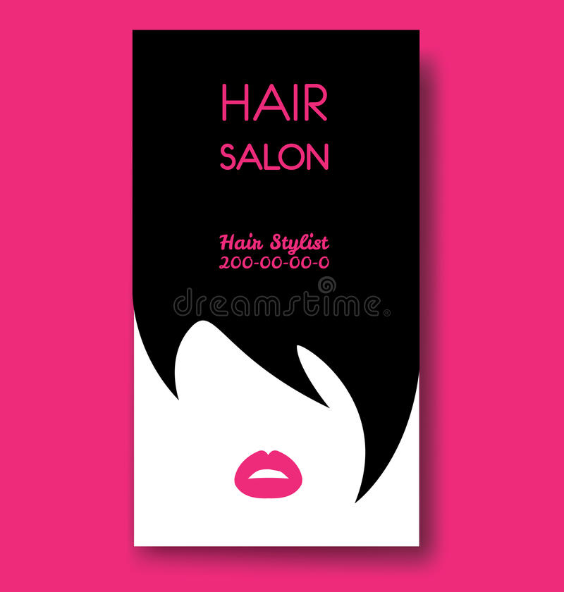 Hair Salon Business Card Templates With Black Hair And Beautiful