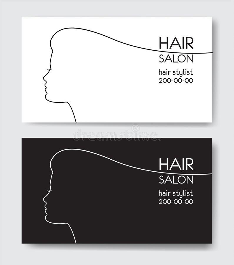 Hair salon business card templates withl woman silhouette stock download hair salon business card templates withl woman silhouette stock vector illustration of profile flashek Choice Image