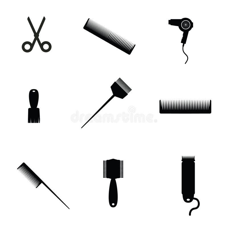 Hair salon elements icon vector stock illustration