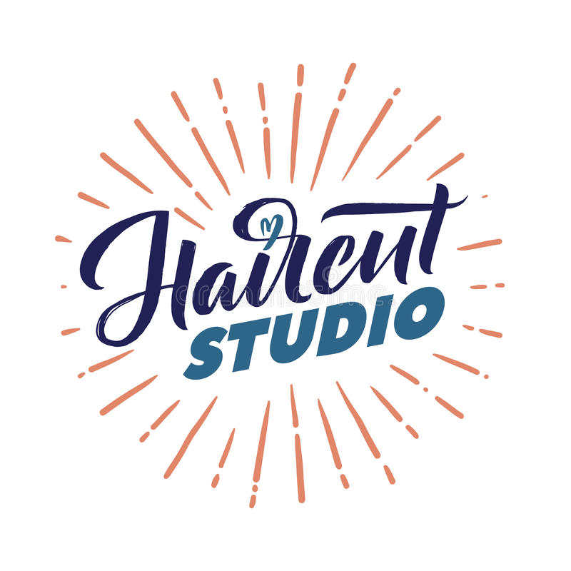 Hair Salon. Logo Beauty Vector Lettering. Custom handmade calligraphy. Vector Illustation vector illustration
