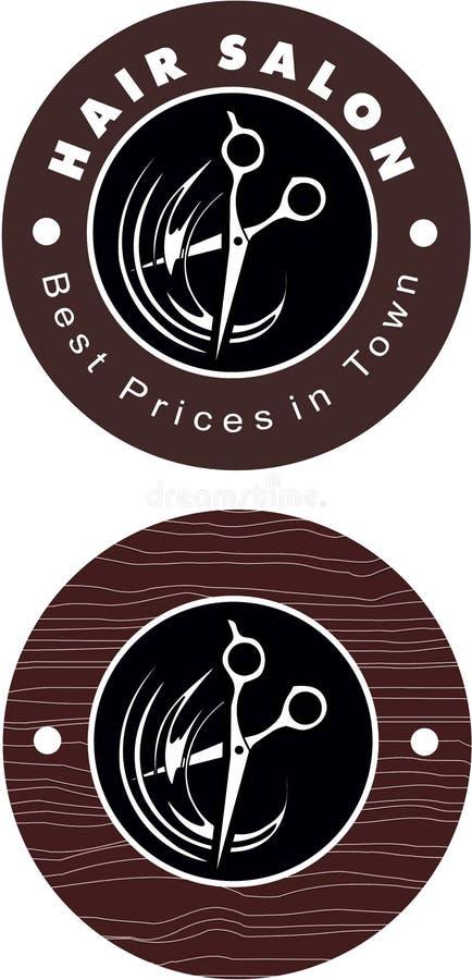 Hair salon modern logo. Hair salon elegant modern logo best prices in town stock illustration