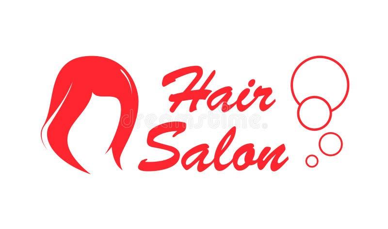Hair salon red icon stock illustration