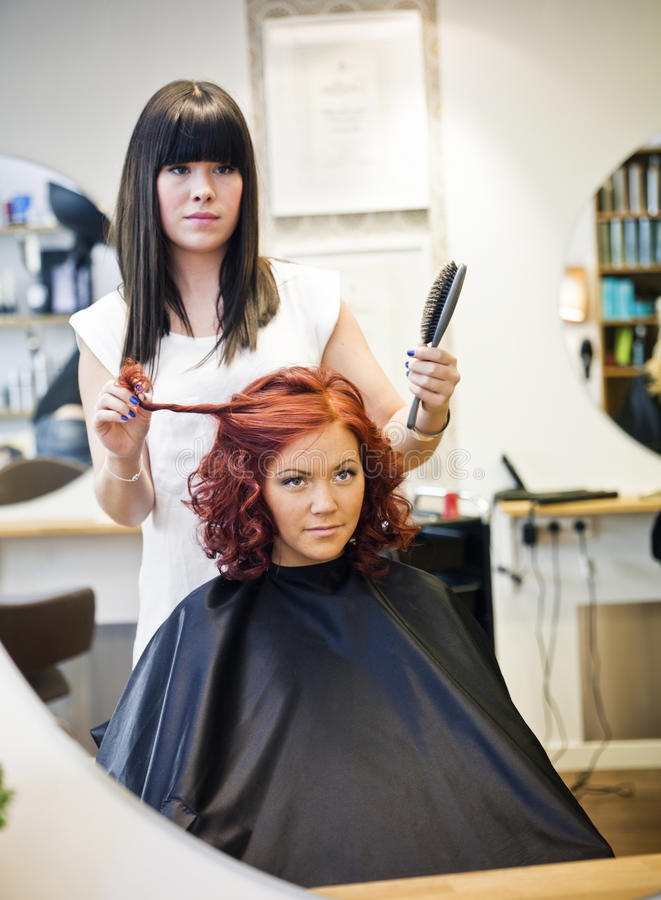 Free Hair Salon Situation Royalty Free Stock Images - 21768229