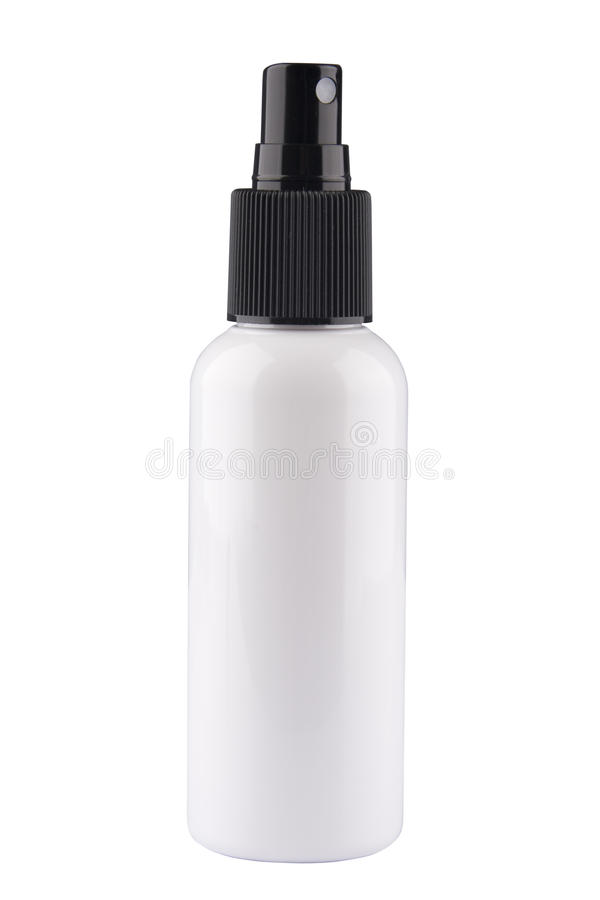 Hair Spray Bottle. Studio photo of hair spray bottle balck and white stock photos