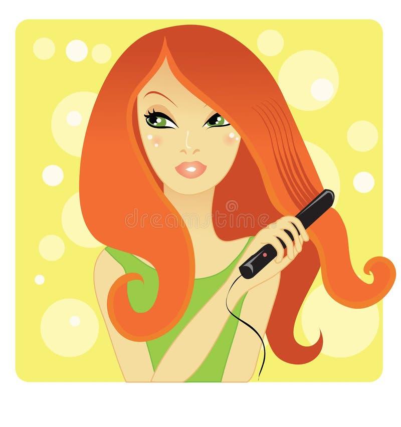 Download Hair straightening stock vector. Image of teenager, hairdresser - 8301110