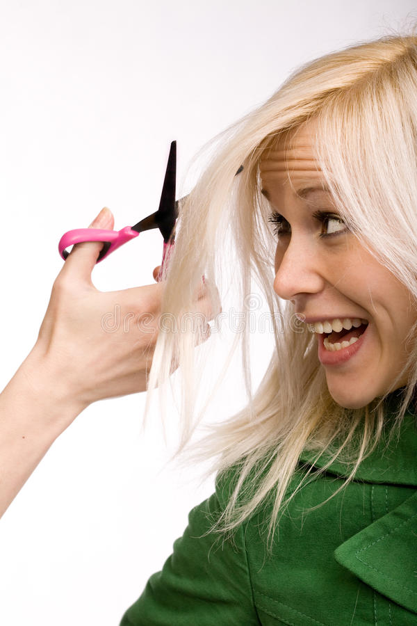 Hair stress royalty free stock images