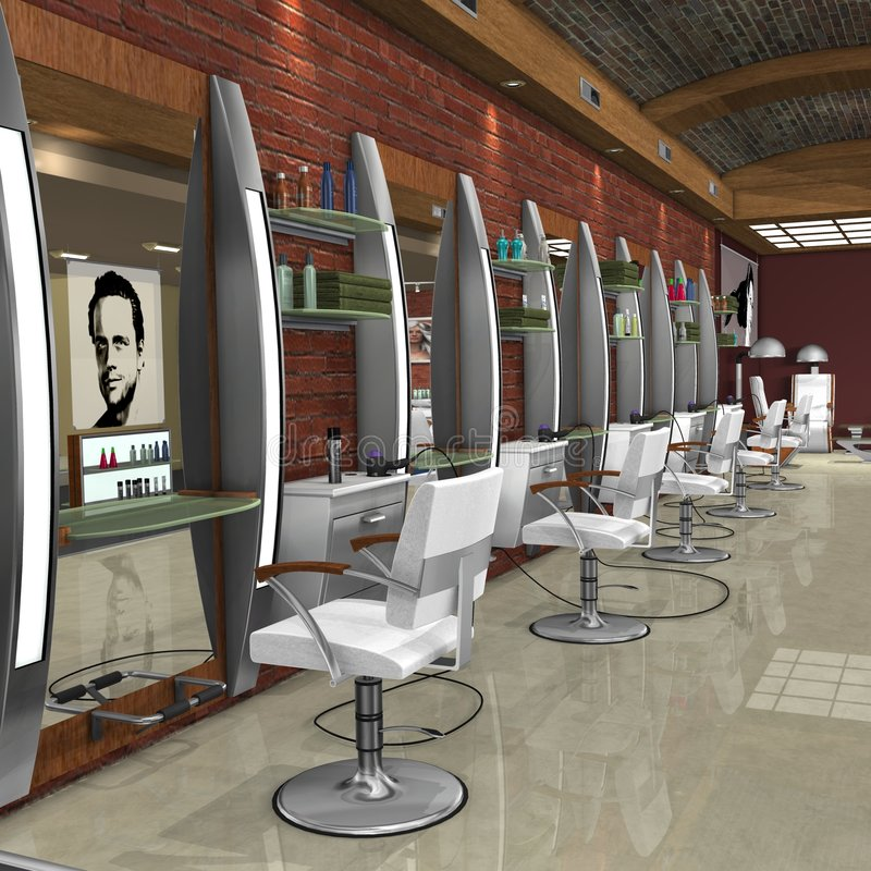 Hair Studio royalty free illustration