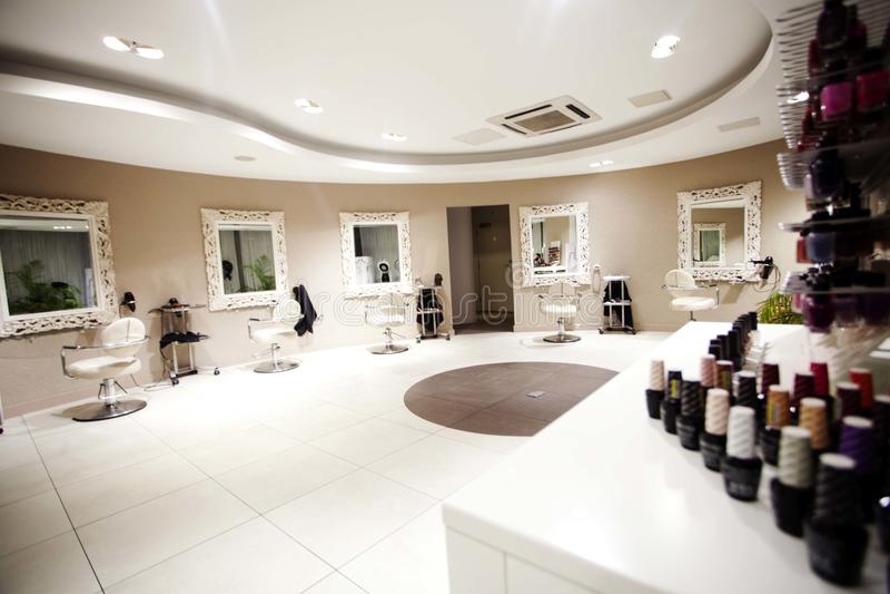Hair, Nails & Beauty Salon. Hair studio,beauty salon, Hair cuts, styles & colour,Beauty treatments,cosmetic treatments for men and women stock image