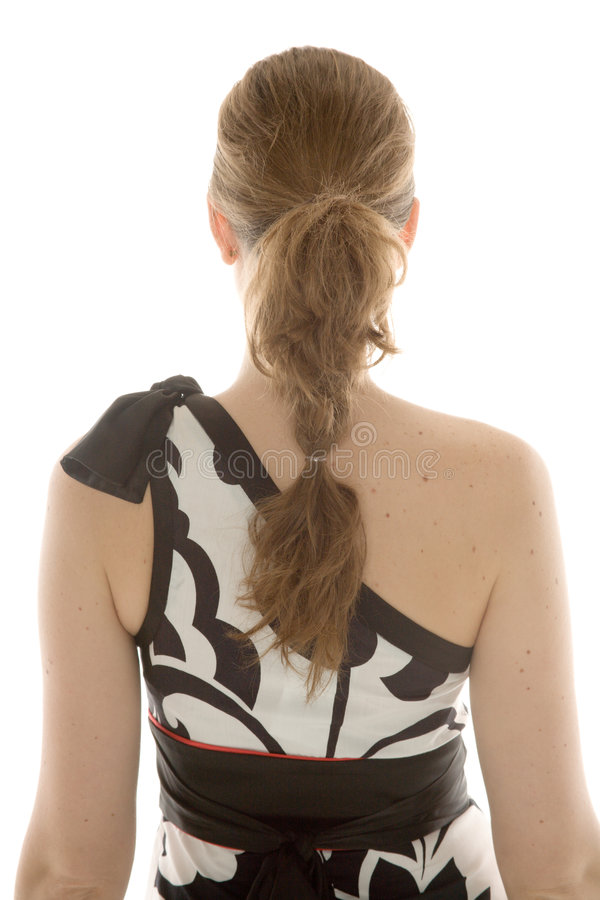 Hair style. Beautiful young woman with pretty hairdo royalty free stock photos