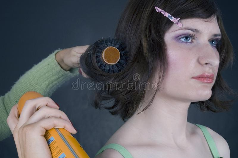 Hair style stock image