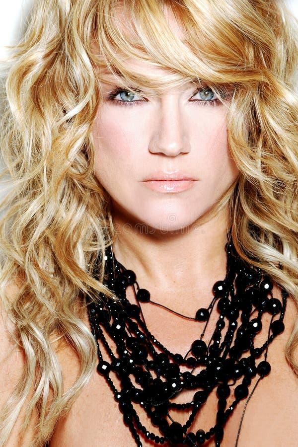 Hair style fashion woman blond model stock photo image Hair fashion style llc