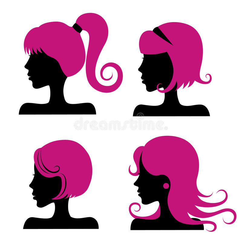 Hair styles royalty free illustration