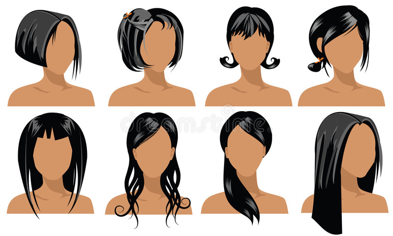 Hair Styles 4 Stock Images