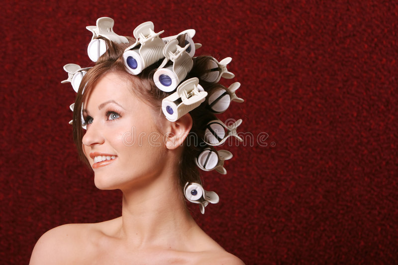 Download Hair styling stock image. Image of happy, feminine, cosmetics - 2305679
