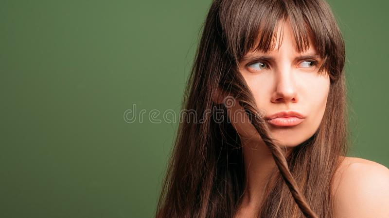 Hair styling natural cosmetic products beauty care stock photography