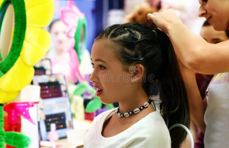 Hair styling party stock images