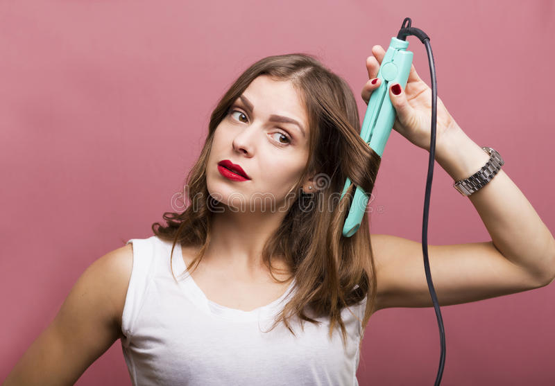 Hair styling royalty free stock images