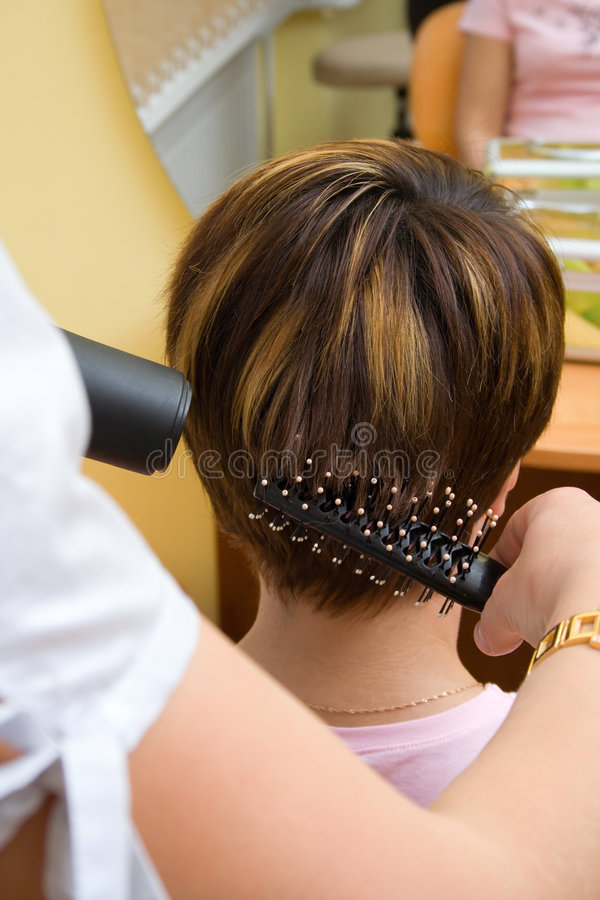 Free Hair Stylist Working On A Clie Stock Images - 2612384