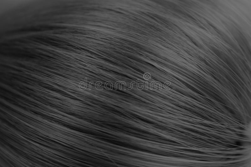 Texture close-up long straight hair black color royalty free stock photography