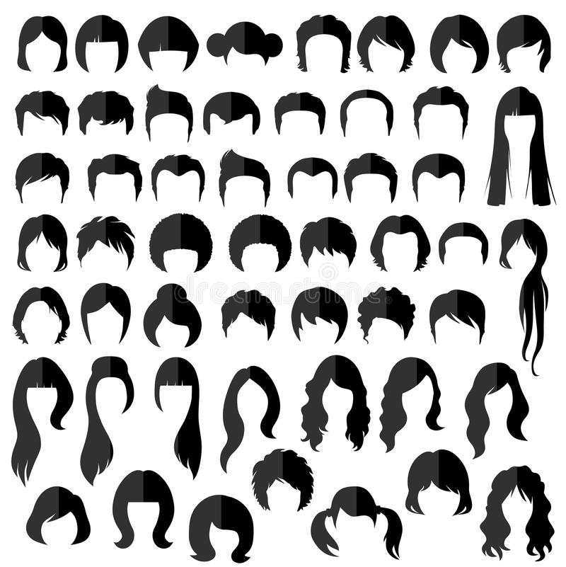 Free Hair, Vector Hairstyle Royalty Free Stock Photography - 50208297