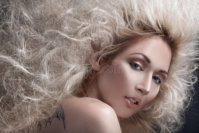 Hair volume royalty free stock photography