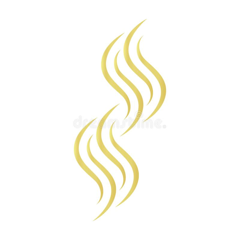 Gold hair vector icon on a white background stock illustration