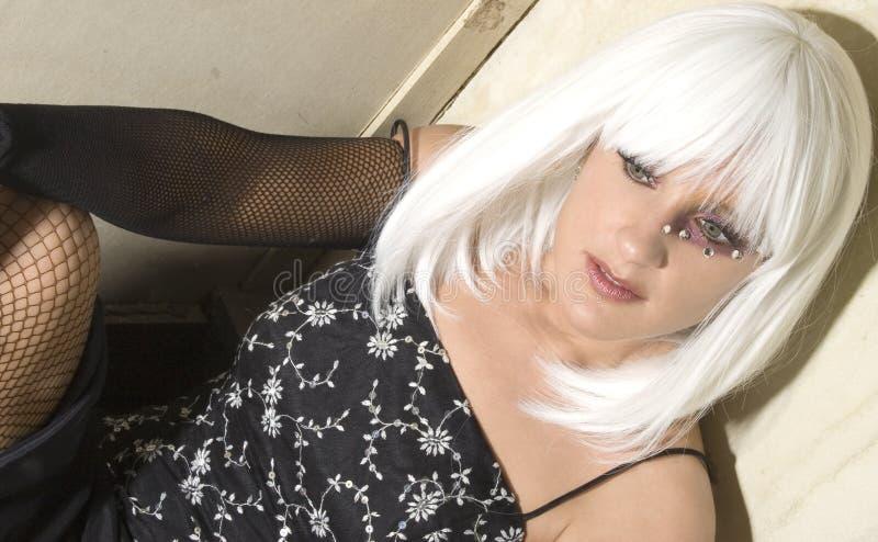hair white στοκ εικόνα