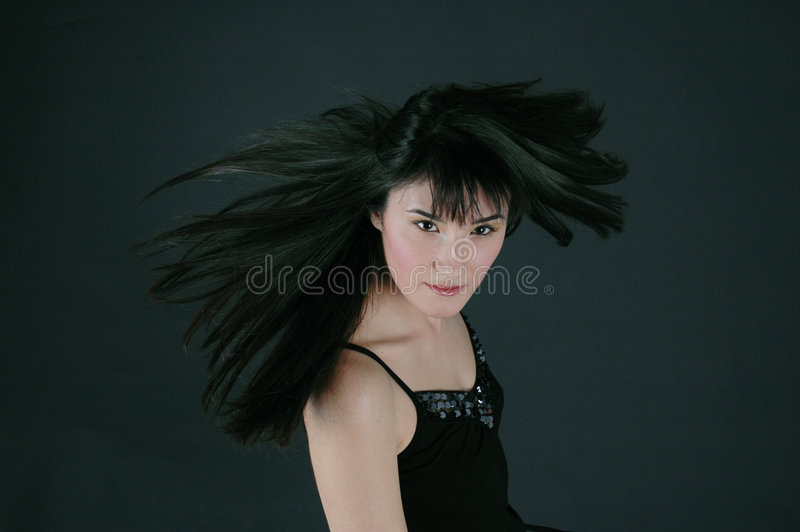 Hair in the wind royalty free stock image
