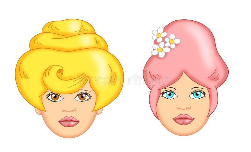 Hair woman cartoon royalty free stock photo